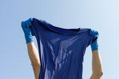 Wet blue shirt. Royalty Free Stock Image