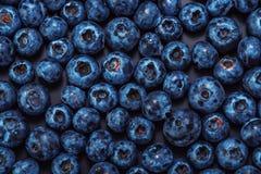 Wet blueberries on black slate Royalty Free Stock Photo