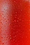 Wet bottle stock image
