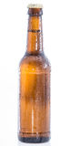 Wet bottle of Beer on white Royalty Free Stock Photo