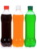 Wet bottles with soda Stock Images