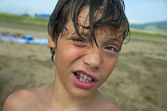 The wet boy Royalty Free Stock Images