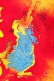 Wet Canvas Paints Stock Images