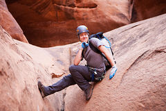 Wet Canyoneering Royalty Free Stock Photos