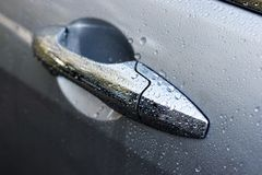 Wet car door Stock Photos