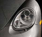Wet car headlights. Stock Images