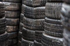Wet car tyres Stock Photos