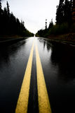 Wet Cassiar Highway. Through Northern British Columbia Royalty Free Stock Photography