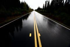Wet Cassiar Highway. Through Northern British Columbia Stock Images