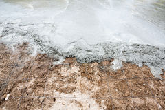 Wet cement concrete Stock Photography