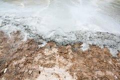 Wet cement concrete Stock Photography