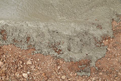 Wet cement concrete Royalty Free Stock Photography