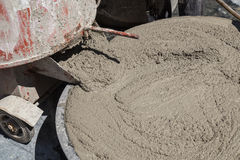 Wet cement Stock Image