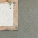Wet cement texture in building construction site Stock Image