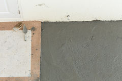 Wet cement texture in building construction site Royalty Free Stock Image