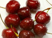 Wet cherry. Royalty Free Stock Images