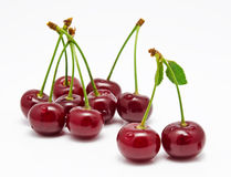 Wet cherry isolated on a white Royalty Free Stock Image