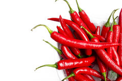 Wet chilli peppers Stock Photo