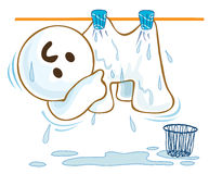 Wet cloth Stock Image
