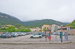 Wet clouds on the mountains Valldemossa Royalty Free Stock Photography