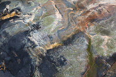 Wet coastal stone background texture Royalty Free Stock Photos
