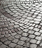 Wet cobble stone Stock Images