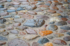 Wet cobbled street Stock Image