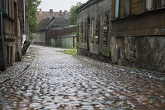 Wet Cobbled Street Royalty Free Stock Photo