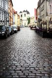 Wet cobbled Street Royalty Free Stock Photos