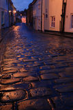 Wet cobbles of Whitby. North Yorkshire stock images