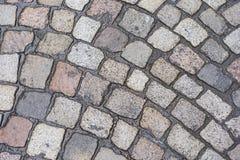 Wet Cobblestone texture Background Royalty Free Stock Image