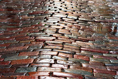 Wet cobblestones Stock Photos