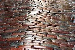 Wet cobblestones Stock Photos