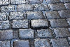 Wet Cobblestones Bruges Royalty Free Stock Images