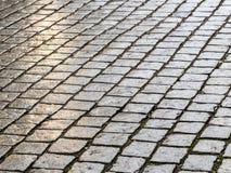 Wet cobblestones Royalty Free Stock Photography