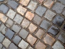 Wet cobblestones Royalty Free Stock Images