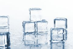 Wet and cold ice cubes Stock Image