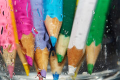 Wet color pencils Stock Image