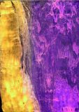Wet colour. Photography of wax coloured paper Stock Photos