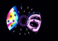 Wet compact disc Royalty Free Stock Photography