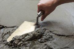 Wet concrete Royalty Free Stock Photos