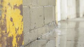Wet concrete wall. stock footage