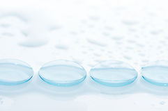 Wet contact lenses Stock Image