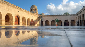 Wet courtyard of the Great Mosque in Sousse Royalty Free Stock Photography