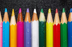 Wet crayons Royalty Free Stock Photos