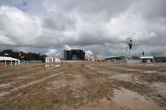 Wet Creamfields 2012 Stock Photography