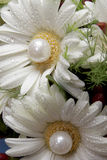 Wet Daisy. A bride's flower bouquet on her wedding day Stock Photo