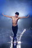 Wet dancer. Royalty Free Stock Photo