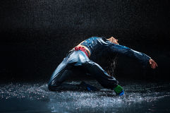 Wet dancing woman. Royalty Free Stock Photo