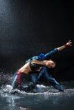 Wet dancing woman. Royalty Free Stock Image
